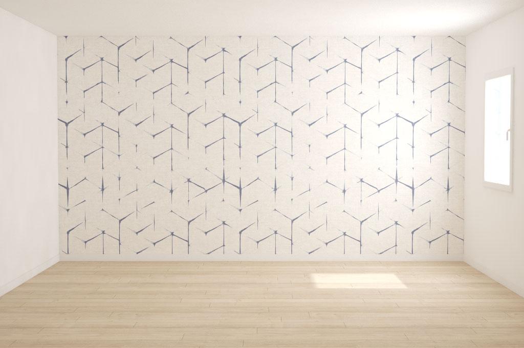 carta da parati geometrica