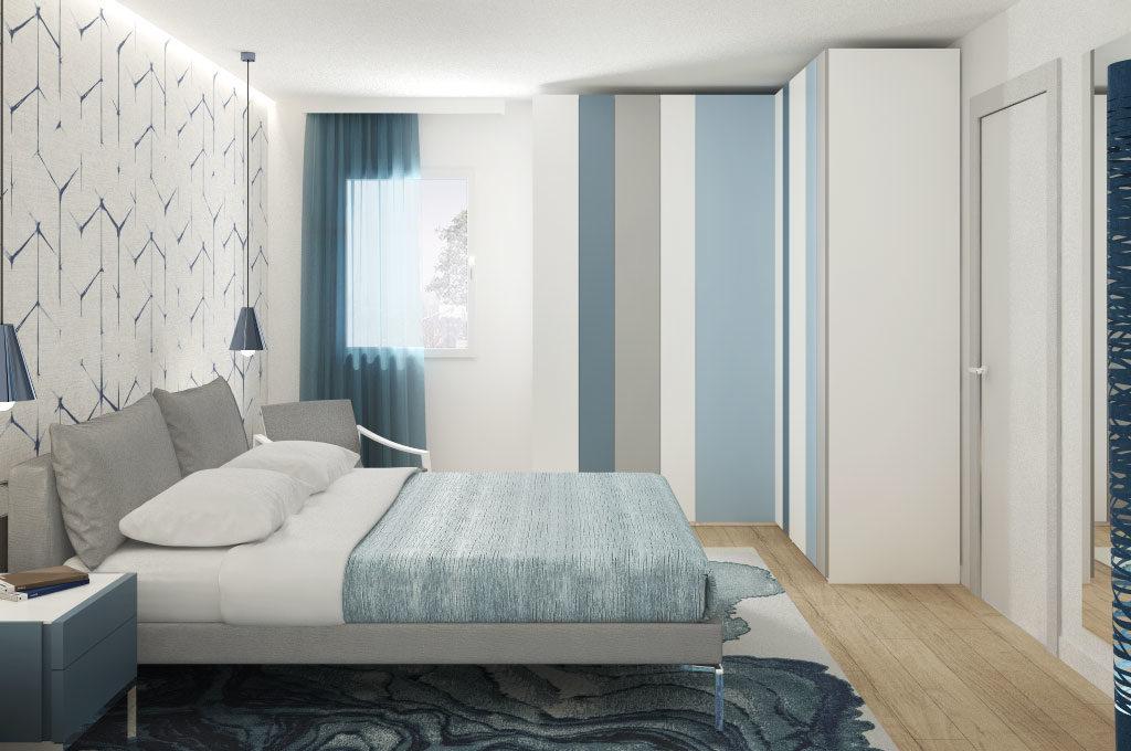 La camera da letto in stile contemporaneo: la stanza finita ...