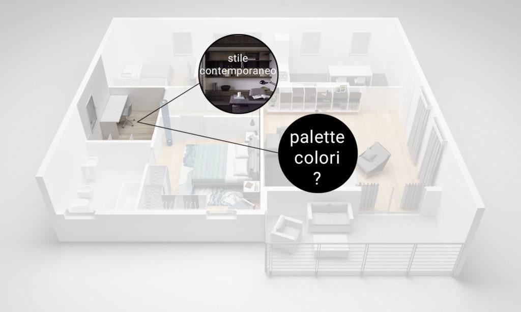 planimetria Community House - stanza studio