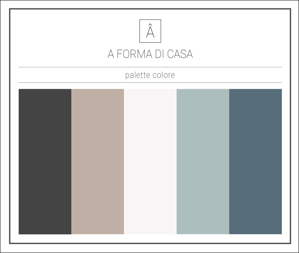 palette colore - a forma di casa