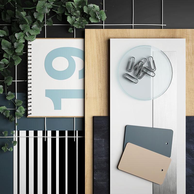 contemporary studio moodboard