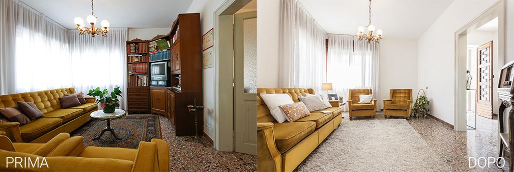home staging soggiorno